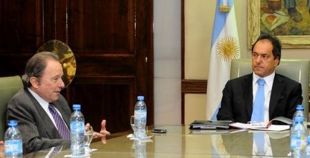 El Gobernador Scioli junto al intendente de Vicente López