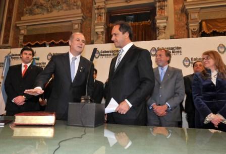 Scioli puso en funciones al nuevo Ministro de Desarrollo Social y al Secretario de Turismo