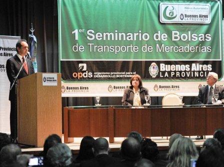 Scioli encabezó el 1er seminario de Bolsas de Transporte de Mercaderías