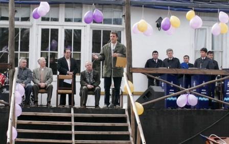 Massa participó en el lanzamiento de la Escuela de Remo Adaptado