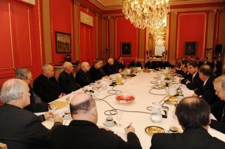 Scioli se reunió con los obispos
