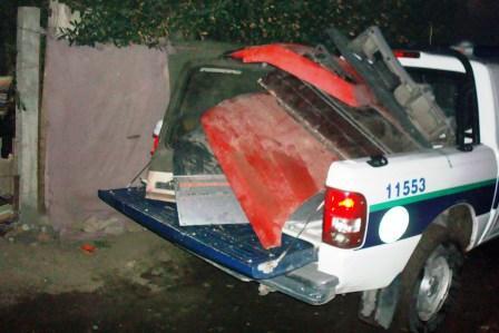La Policia de Tigre desbarató un desarmadero en Benavídez