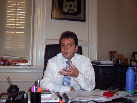 Sergio Massa en su despacho del Municipio de Tigre