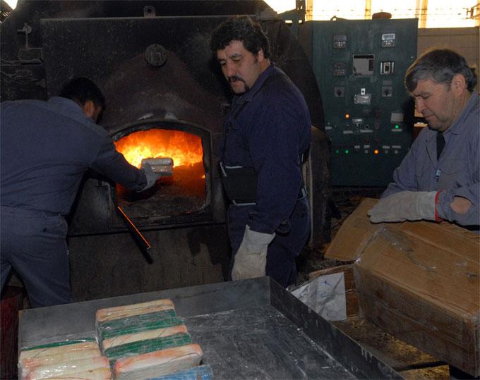 Quemaron más de 750 kilos de cocaína en San Isidro