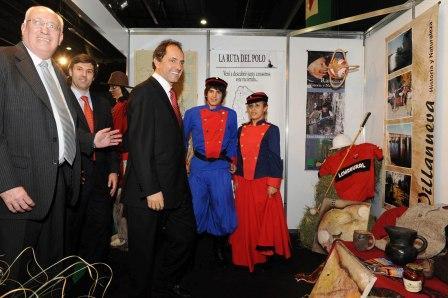 El gobernador Daniel Scioli inauguró hoy la Feria de Turismo Buenos Aires 2009 (FEBAT)