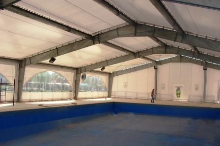 Avanza la obra de climatización de la pileta del polideportivo Zanón
