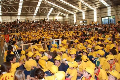 El movimiento scout desbordó San Isidro