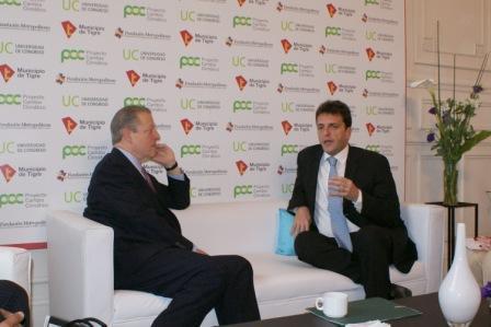 Al Gore brindó una charla sobre cambio climático en Tigre