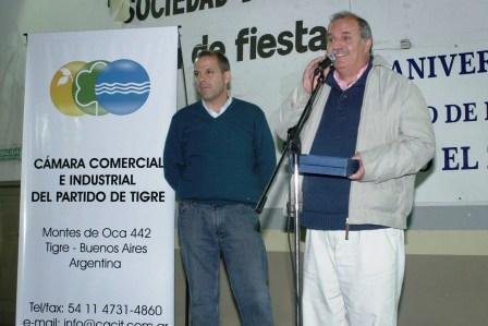 Cena y reconocimiento de los Comerciantes de General Pacheco a Jorge Bettiga