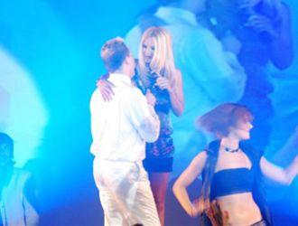 Amalia Granata cantó con Cristian Castro