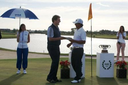 El Intendente, Sergio Massa, presenció el 104º Visa Open de Golf que se desarrolló en Nordelta, partido de Tigre.