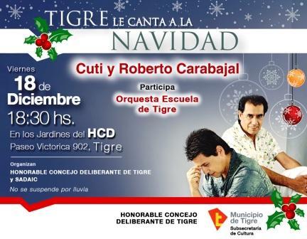 Tigre le canta a la Navidad