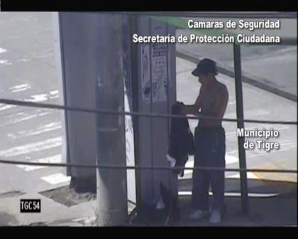 Las cámaras de Tigre atraparon a delincuente que se escondía cambiándose la remera con la que había robado
