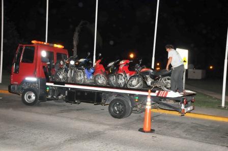 Se secuestraron numerosas motos