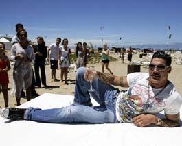 Ricardo Fort ya tiene su playa en Mar del Plata