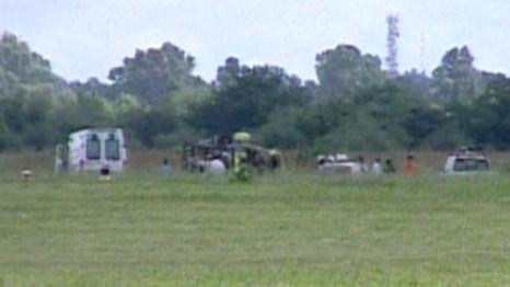 Cayó un helicóptero de Prefectura Naval en San Fernando - imagen C5N