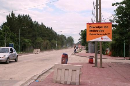Avanza la construcción de la Ruta 27