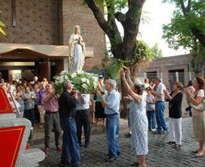 Nuestra Señora de Lourdes celebró sus fiestas patronales