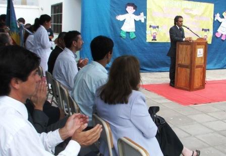 Sandro Guzmán inauguró el Ciclo Lectivo 2010 en el Partido de Escobar