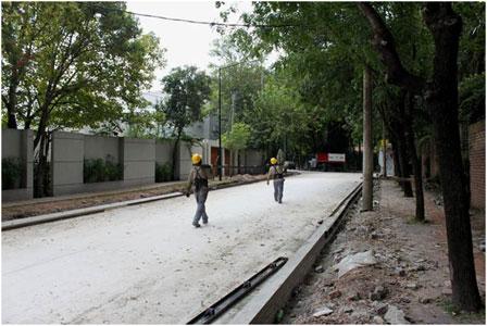 La semana próxima habilitarían la repavimentación de la calle Capitán Juan de San Martín.