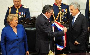 Piñera asumio la presidencia de Chile en medio de nuevos sismos