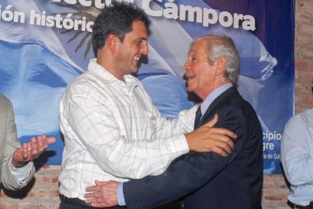 Sergio Massaes tuvo acompañado por Héctor Cámpora y Pedro Daniel Cámpora hijo y sobrino respectivamente del recordado presidente argentino.