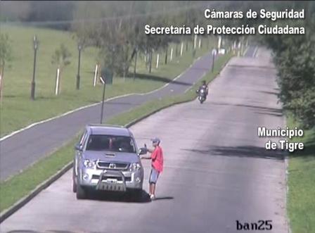 Tigre: Las cámaras atraparon a otro delincuente que asaltó a mujer con su nieta