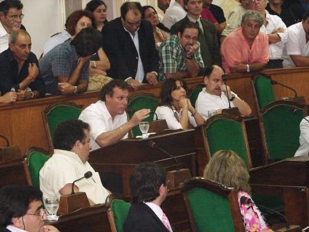 el concejal Fabián Gnoffo se refirió al ex presidente, a quien define como el padre de la Democracia.