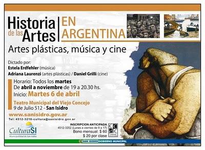 """Curso de """"Historia de las Artes en la Argentina"""""""