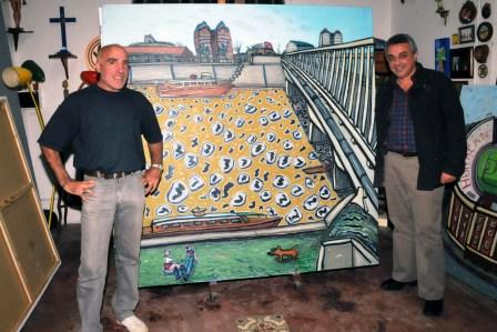 El artista Burone Risso pintará un mural del Bicentenario en el HCD de Tigre
