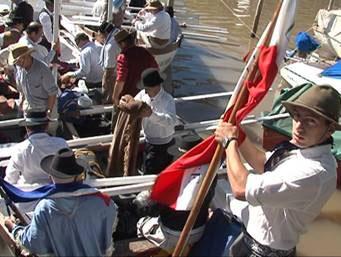 Partió de Beccar el grupo de uruguayos que está recreando la travesía de los 33 Orientales