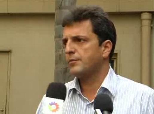 intendente de Tigre, Sergio Massa