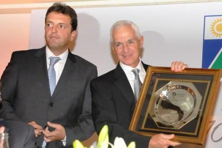 El Intendente de Tigre, Sergio Massa, y Eduardo Constantini, precursor del emprendimiento