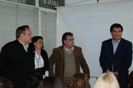 El Secretario de Promoción Comunitaria de Tigre, Daniel Gambino y el Subsecretario de Empleo y Producción, Eduardo Fernández, fueron los encargados de cerrar este primer seminario