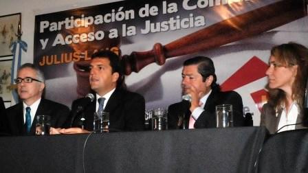 Julius Lang, Sergio Massa, Julio Novo, Mónica Neffke