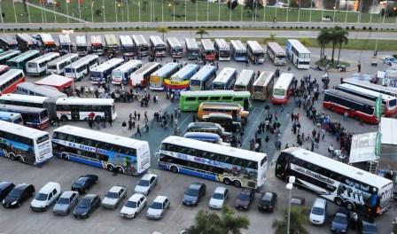 El playón de la estación Tigre fue el escenario elegido para realizar la Primera Exposición de Transportes de Ayer y Hoy