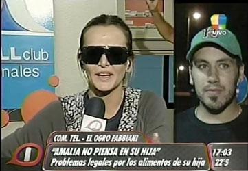 El Ogro Fabbiani amenazó a Granata con sacarle a su hija (imagen TV)