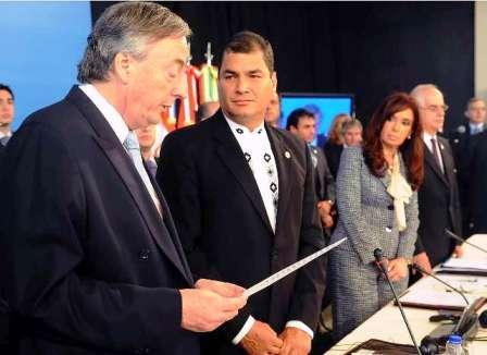 Kirchner resultó electo por consenso como primer Secretario General de la UNASUR