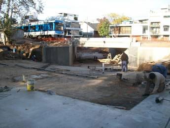 Avanza la construcción del paso bajo nivel de Güemes