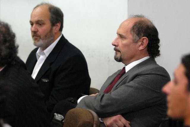 Sebastian Garcia Bolster y Alberto De La Torre, dos de los acusados en el juicio denominado