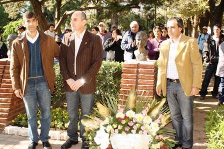 Sandro Guzmán participó del acto en homenaje por el 91 aniversario del nacimiento de Eva Perón