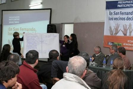 Los vecinos de San Fernando Oeste y Carupá también piensan ideas para su barrio
