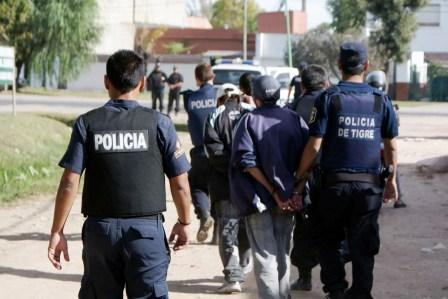 Importante operativo policial en barrios de Tigre