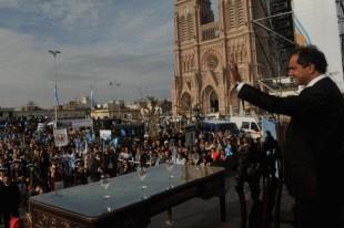 Scioli inaugura el nuevo puente de Luján