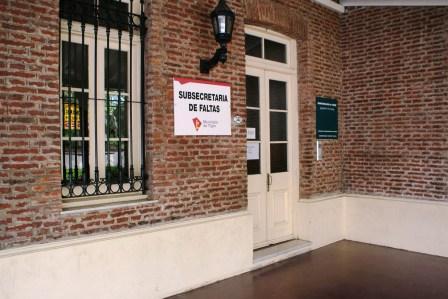 Subsecretaria de Faltas del municipio de Tigre