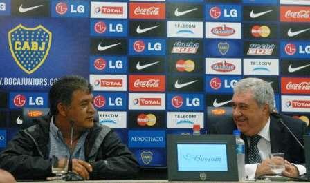 Borghi en su asunción como DT de Boca