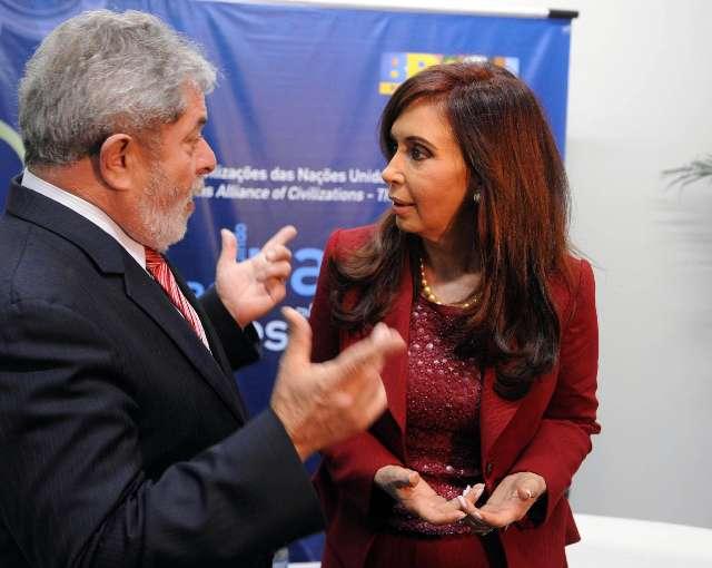 Cristina Fernández y Lula