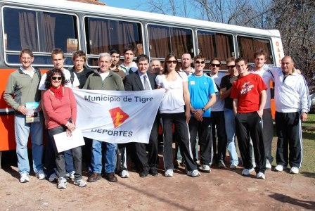 Tigre despidió a la Delegación Argentina de Remo.