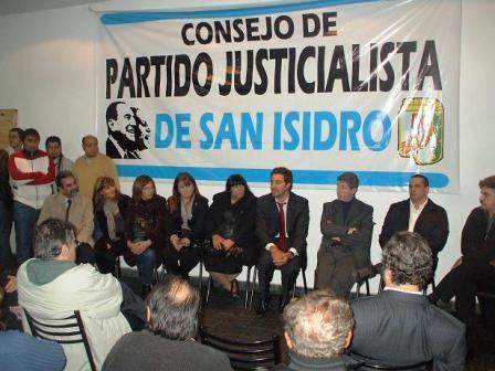 El PJ San Isidro rindió unido un emotivo homenaje al Gral. Perón
