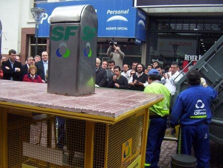 Presentaron en San Fernando un novedoso sistema de contenedores de residuos